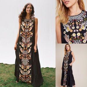 Anthropologie Jacaranda Tiered Maxi Dress NWT